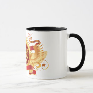 """赤い男爵""""(占星術の)十二宮図牡羊座""""の黒11のozの信号器のマグ マグカップ"""