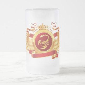 """赤い男爵""""(占星術の)十二宮図蠍座""""の16のozの曇らされたガラスのマグ フロストグラスビールジョッキ"""