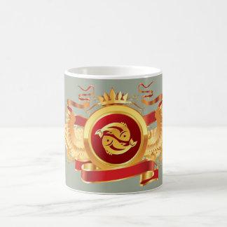"""赤い男爵""""(占星術の)十二宮図魚類"""" 11のozの変形させるマグ マジックマグカップ"""