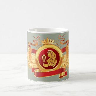 """赤い男爵""""(占星術の)十二宮図《星座》乙女座""""の11のozの変形させるマグ モーフィングマグカップ"""