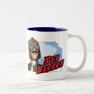 赤い男爵T-shirtsおよびギフト ツートーンマグカップ
