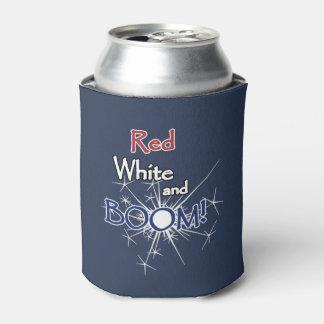 赤い白およびブーム! 7月4日の飲料のクーラーボックス 缶クーラー