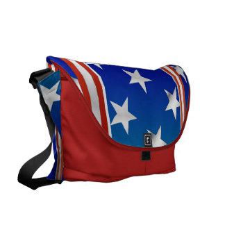 赤い白くおよび青の星条旗 メッセンジャーバッグ