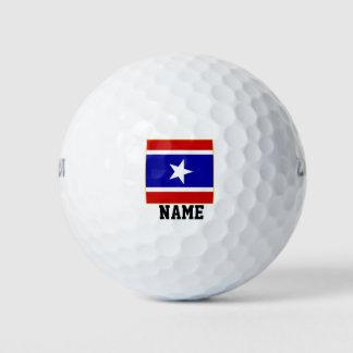 赤い白くおよび青 ゴルフボール