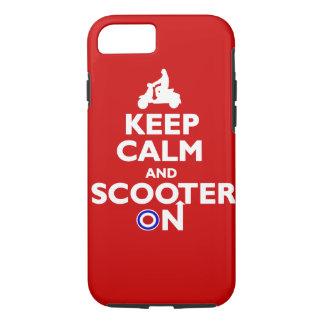 赤い白の平静そしてスクーターを保って下さい iPhone 8/7ケース