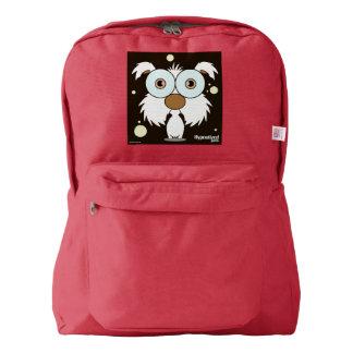 (赤い白の)バックパックの後をつけて下さい AMERICAN APPAREL™バックパック