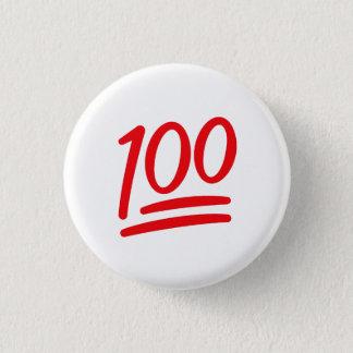 赤い白はそれを100 Emojiの記号アイコンPin保ちます 3.2cm 丸型バッジ