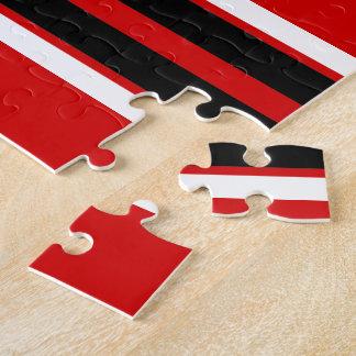 赤い白黒のチームジャージーカスタムな数名前 ジグソーパズル