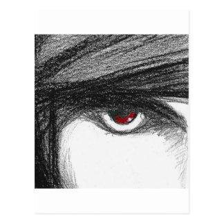 赤い目 ポストカード