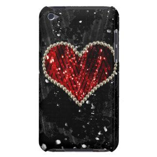 赤い真珠のハート Case-Mate iPod TOUCH ケース