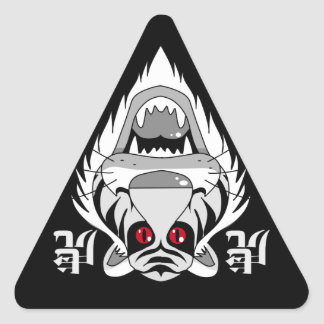 赤い眼の虎 三角形シール