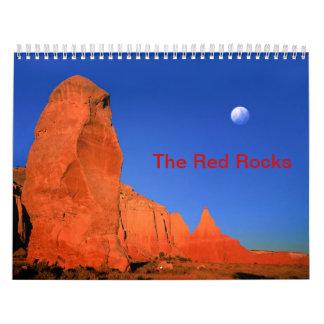 赤い石のカスタムによって印刷されるカレンダー カレンダー