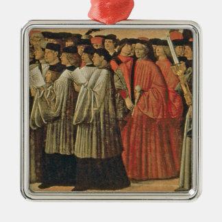 赤い石、c.1895 (キャンバスの油) 2 メタルオーナメント