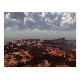 赤い砂漠の嵐 ポストカード