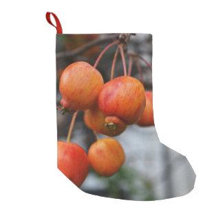 赤い秋のりんご スモールクリスマスストッキング