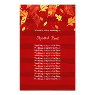 赤い秋の紅葉 チラシ