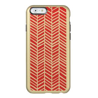 赤い種族パターン金属のiPhone6ケース Incipio Feather Shine iPhone 6ケース