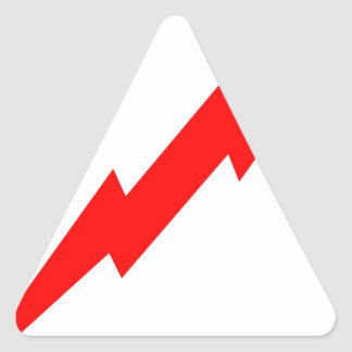 赤い稲妻 三角形シール