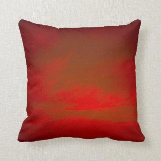 赤い空の枕 クッション