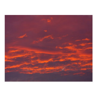 赤い空の背景 ポストカード