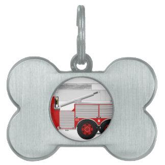 赤い空気の規模のカスタムな普通消防車のデザイン ペットネームタグ