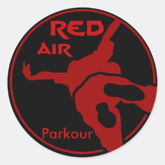 赤い空気Parkour ラウンドシール