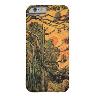 赤い空wの落日に対するゴッホの松の木 barely there iPhone 6 ケース