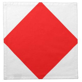 赤い箱の正方形はフォックストロットを踊ります ナプキンクロス