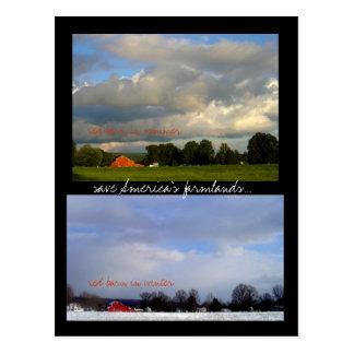 赤い納屋の季節 ポストカード