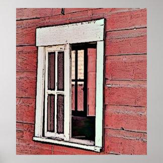 赤い納屋の窓 ポスター