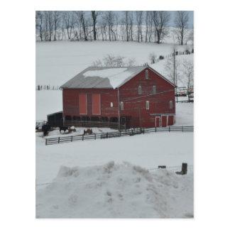 赤い納屋の農場 ポストカード
