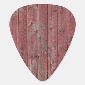 赤い納屋木 ギターピック