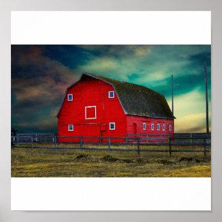 赤い納屋 ポスター