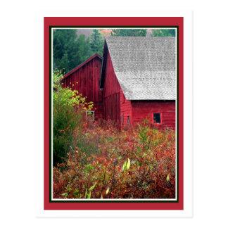 赤い納屋 ポストカード