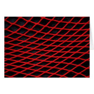 赤い純パターン カード