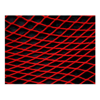 赤い純パターン ポストカード