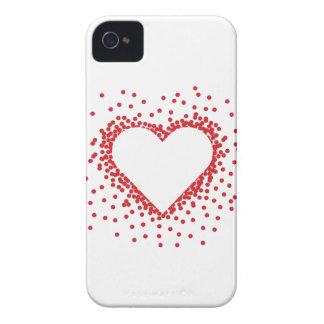 赤い紙吹雪のハートのiphone 4ケース Case-Mate iPhone 4 ケース