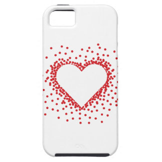 赤い紙吹雪のハートのiPhone 5カバー iPhone SE/5/5s ケース
