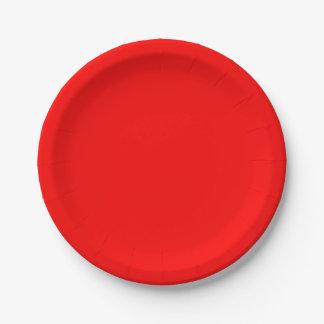 赤い紙皿 ペーパープレート