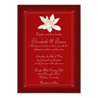 赤い結婚式招待状 12.7 X 17.8 インビテーションカード