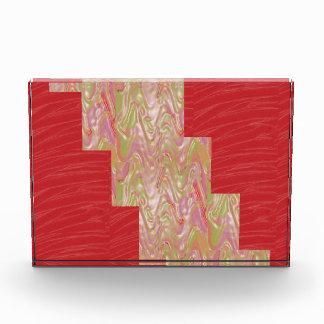 赤い絹の生地のプリントn ARTSTRIPのストリップ 表彰盾
