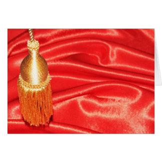 赤い絹の背景 カード