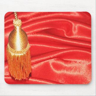 赤い絹の背景 マウスパッド