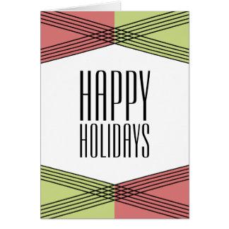赤い緑のカラフルなDecoの休日カード カード