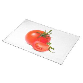 赤い緑のトマトの食糧芸術 ランチョンマット