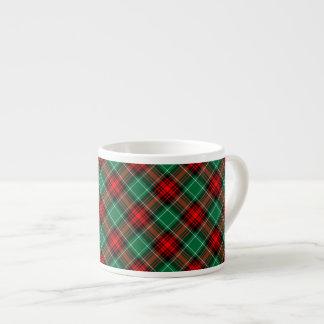赤い緑のレトロの休日の格子縞パターンエスプレッソのマグ エスプレッソカップ
