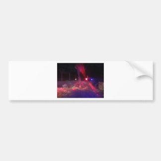 赤い緑のレーザーの霧の泡のパーティー夜 バンパーステッカー