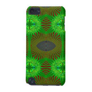 赤い緑の抽象デザイン iPod TOUCH 5G ケース