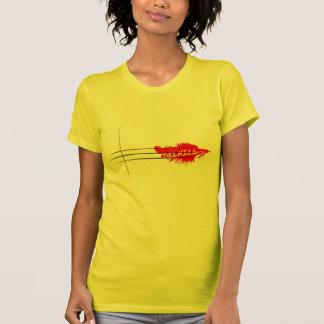 赤い羽のワイシャツ Tシャツ