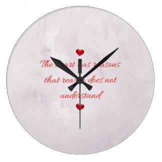 赤い聖者のバレンタインデー ラージ壁時計